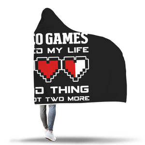 Video Games Ruined My Life Good Thing I've Got Two More RPG Gaming Hooded Blanket Video Games Ruined My Life Good Thing I've Got Two More RPG Gaming Hooded Blanket