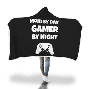 Mom By Day Gamer By Night Video Gamer Hooded Blanket Mom By Day Gamer By Night Video Gamer Hooded Blanket