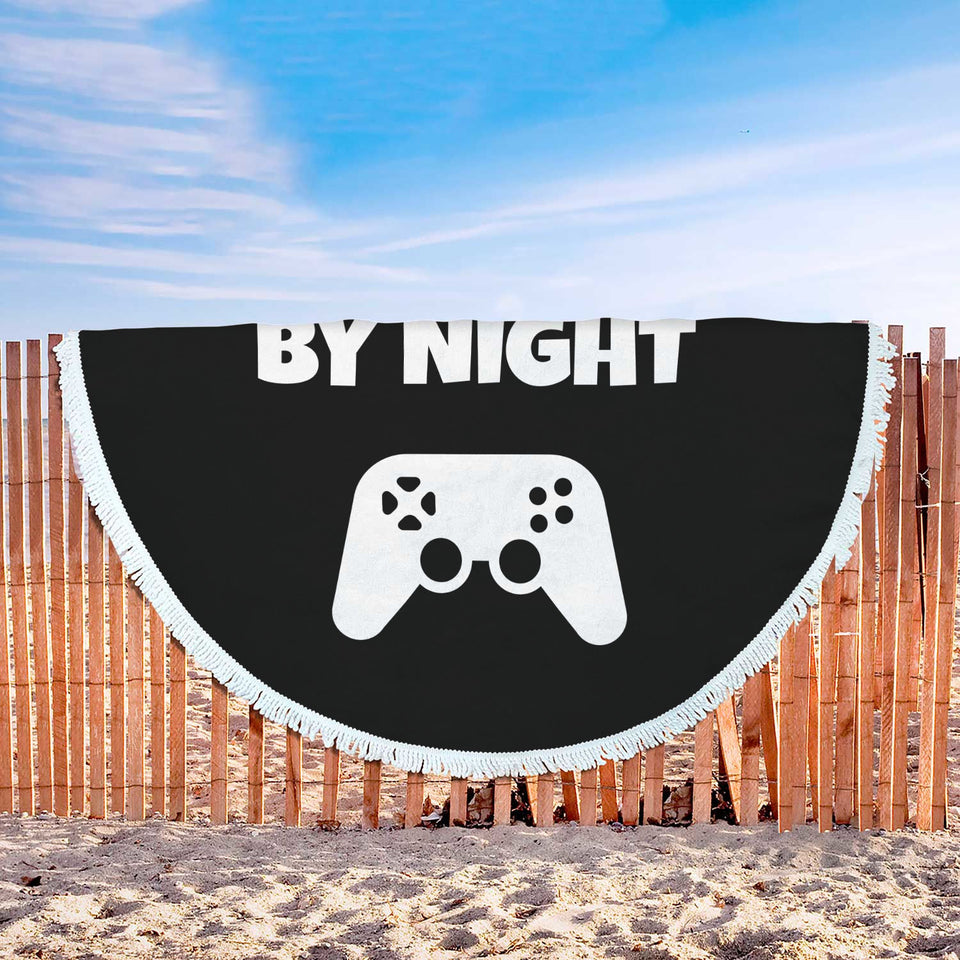 Dad By Day Gamer By Night Beach Blanket