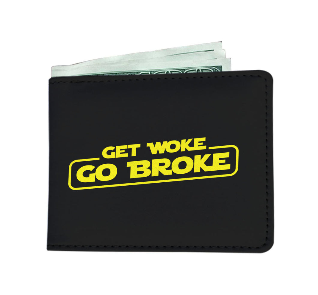 Get Woke Go Broke Mens Wallet