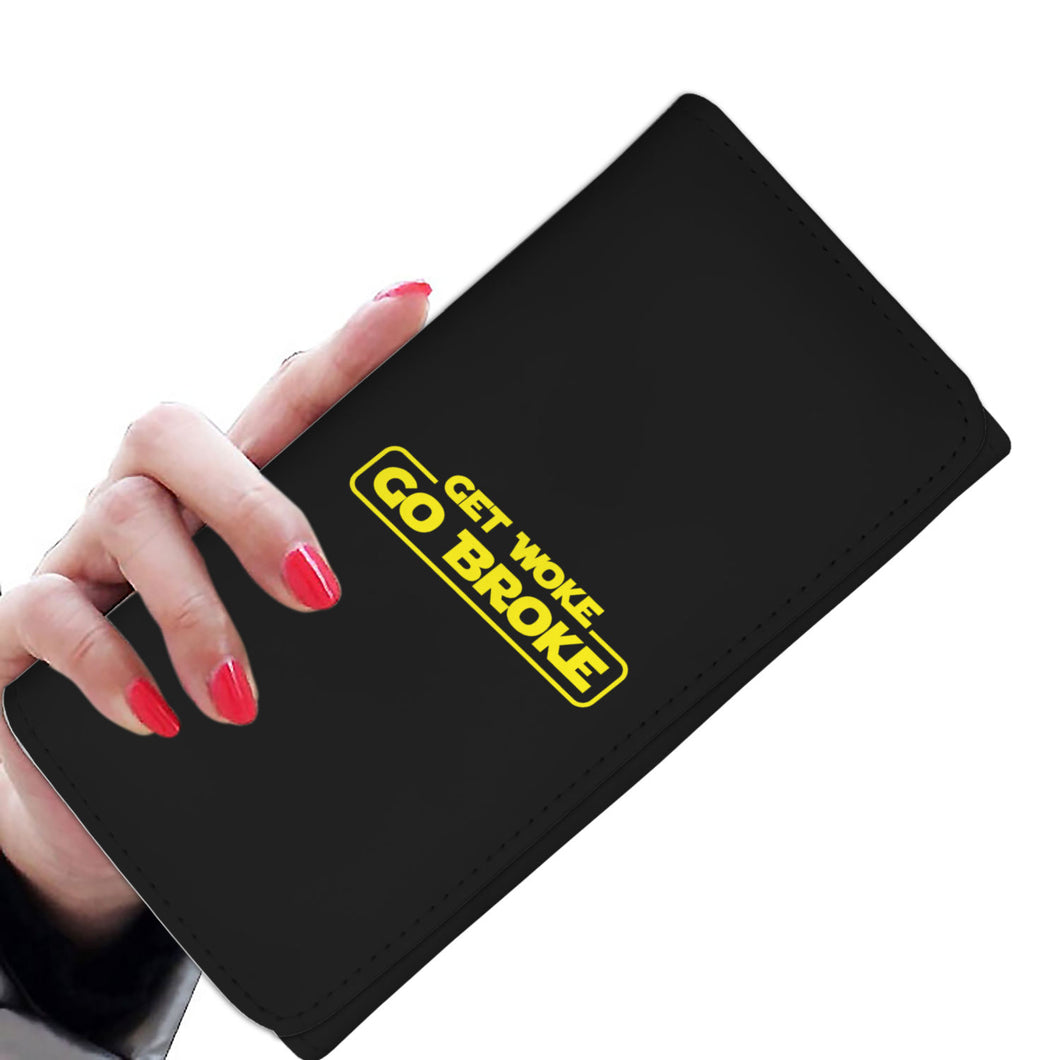 Get Woke Go Broke Womens Wallet