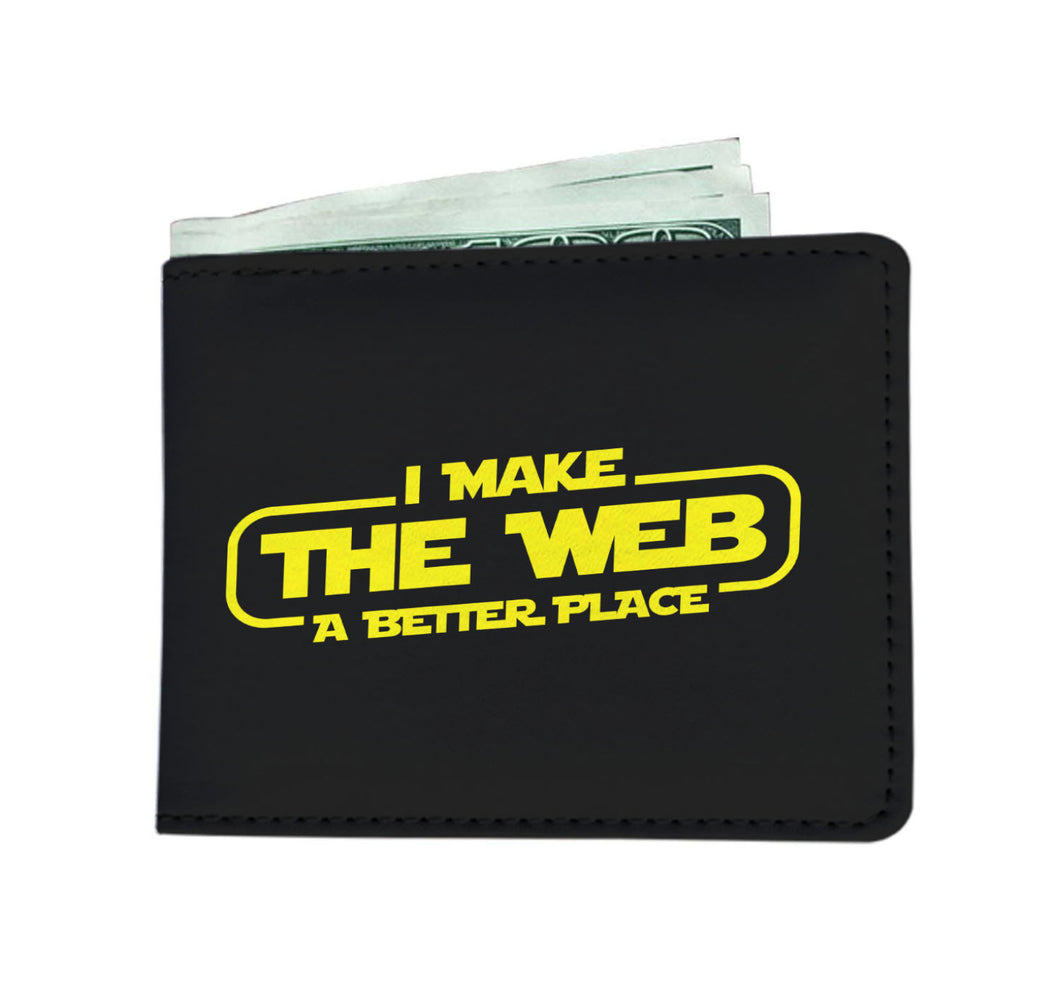 I Make The Web A Better Place Mens Wallet - Web Designer/Web Developer