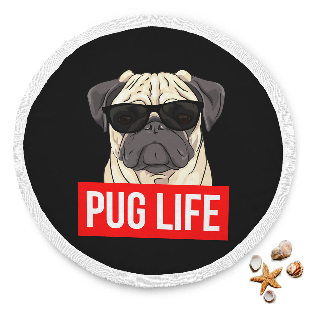 Pug Life - Pug Lovers Beach Blanket