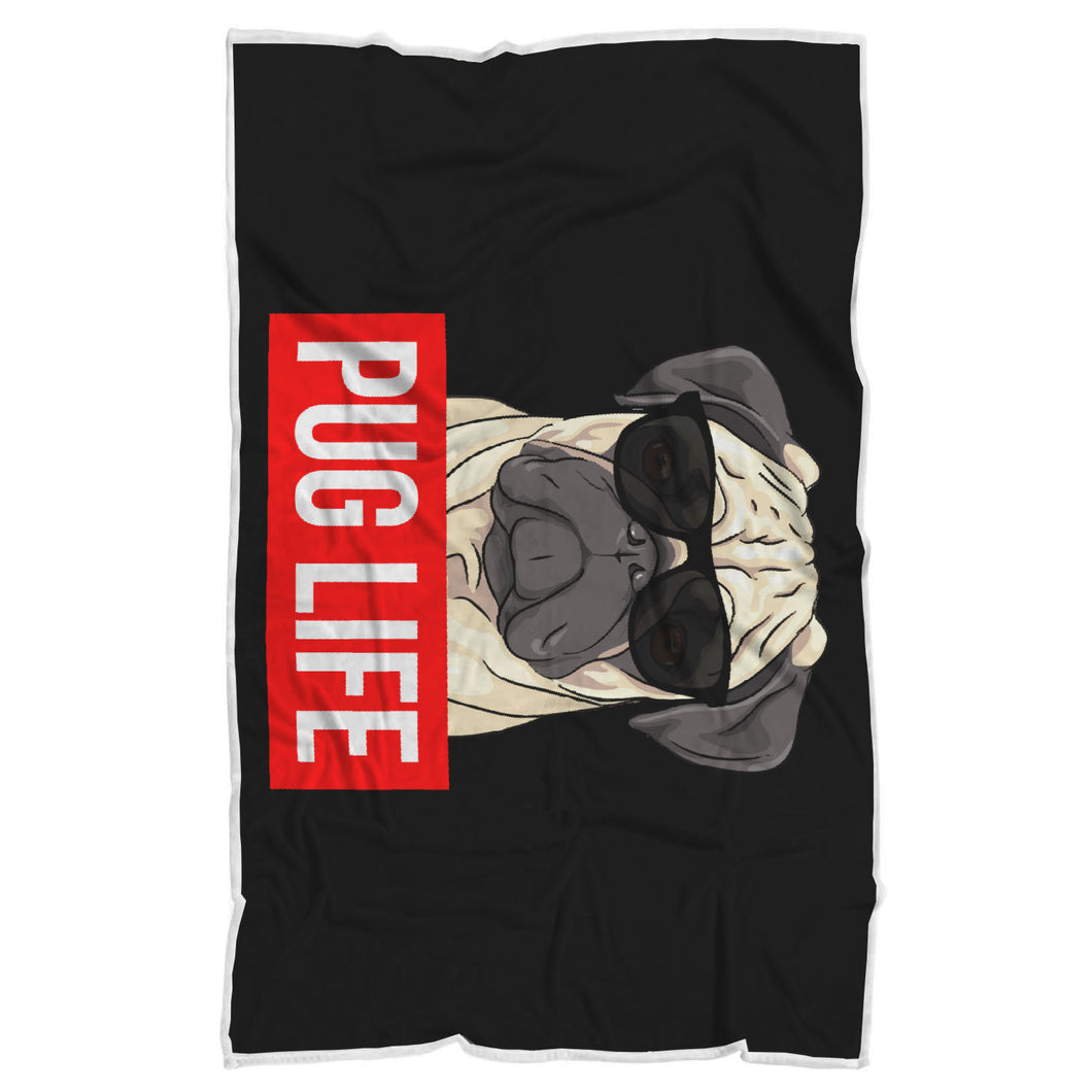 Pug Life - Pug Lovers Blanket