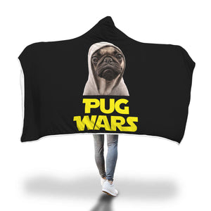 Pug Wars - Pug Lovers Hooded Blanket Pug Wars - Pug Lovers Hooded Blanket