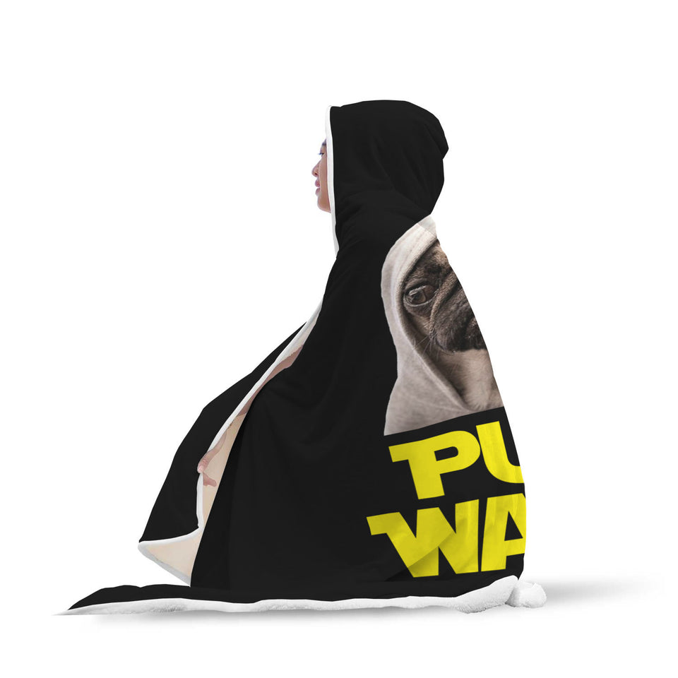 Pug Wars - Pug Lovers Hooded Blanket