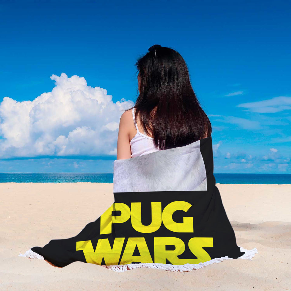 Pug Wars Return Of The Pug Beach Blanket