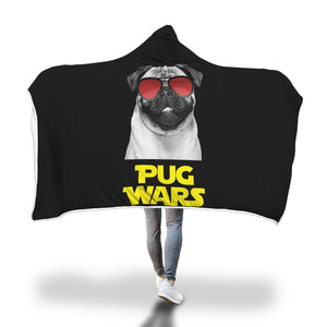 Pug Wars Return Of The Pug Hooded Blanket Pug Wars Return Of The Pug Hooded Blanket
