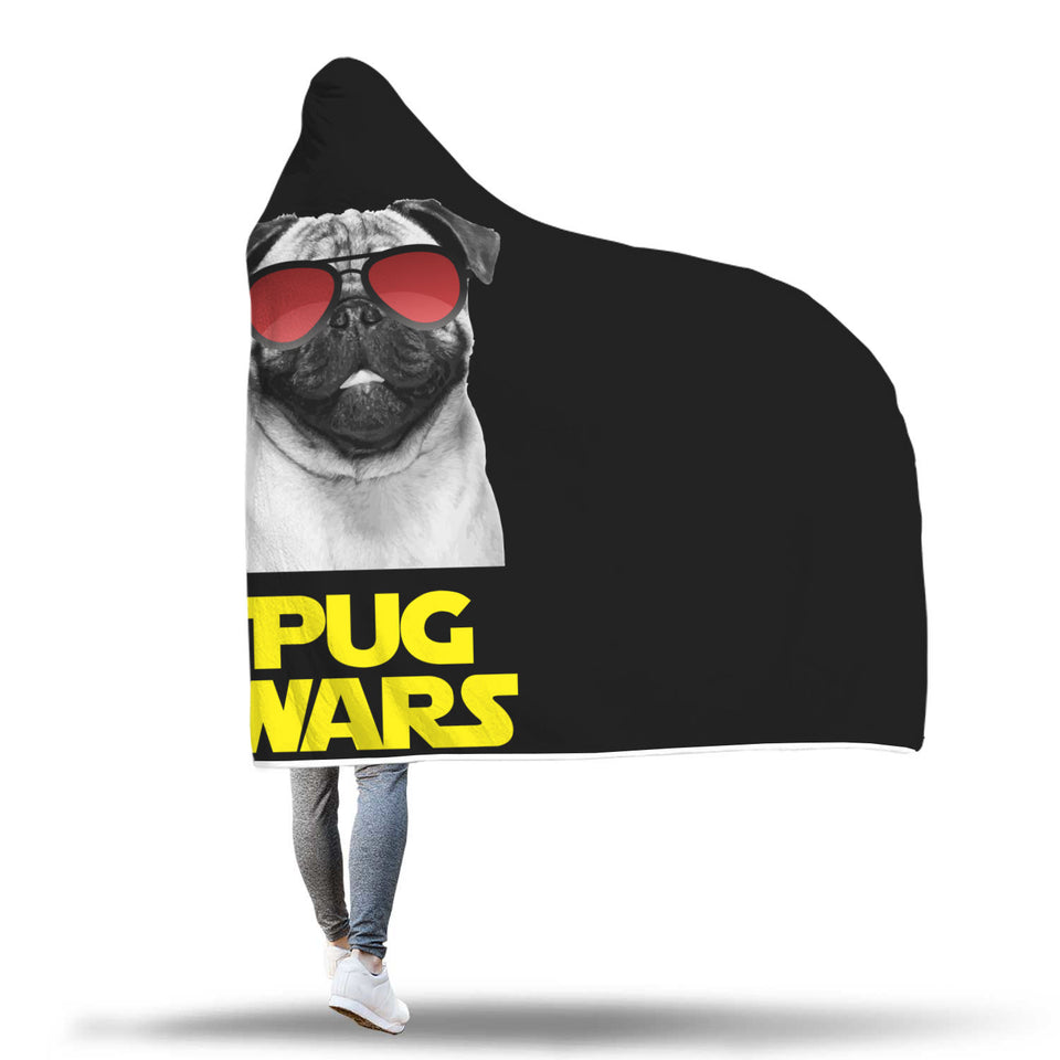 Pug Wars Return Of The Pug Hooded Blanket
