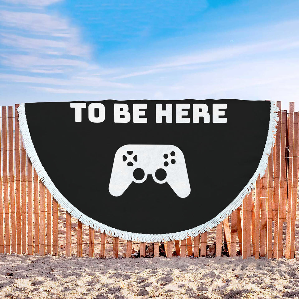I Paused My Game To Be Here Videogame Beach Blanket