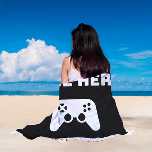 I Paused My Game To Be Here Videogame Beach Blanket I Paused My Game To Be Here Videogame Beach Blanket