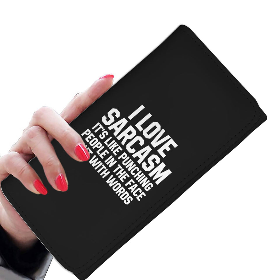 I Love Sarcasm It's Like Punching People In The Face But With Words Womens Wallet
