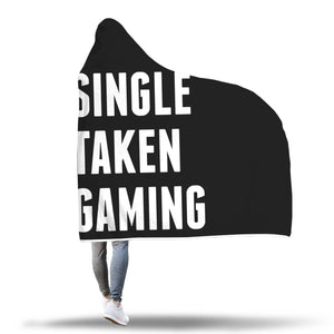 Single Taken Gaming - Video Gamer Hooded Blanket Single Taken Gaming - Video Gamer Hooded Blanket
