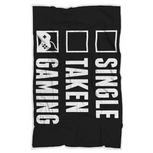 Single Taken Gaming - Video Gamer Blanket Single Taken Gaming - Video Gamer Blanket