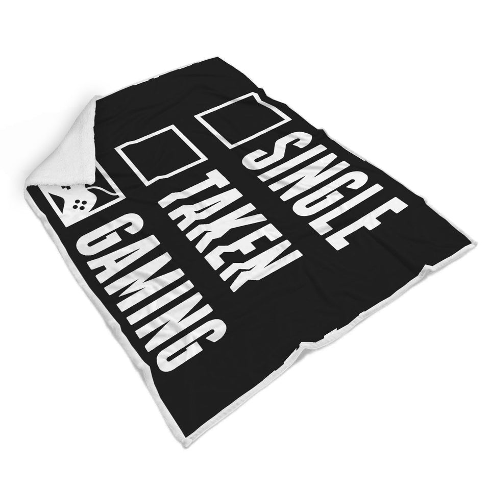 Single Taken Gaming - Video Gamer Blanket