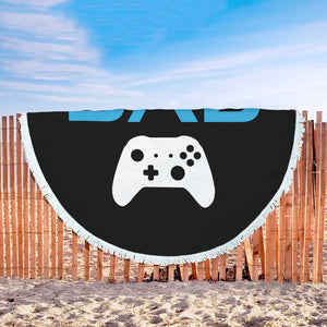 Gamer Dad - Video Game Dad Beach Blanket Gamer Dad - Video Game Dad Beach Blanket