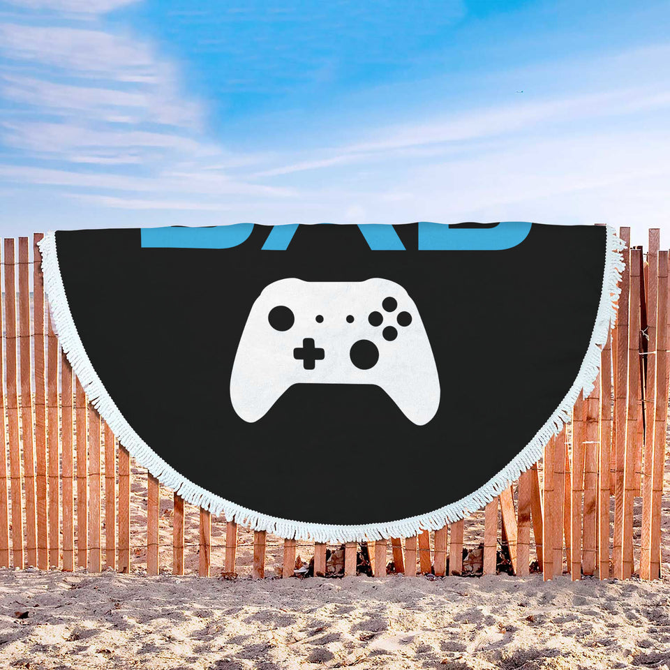 Gamer Dad - Video Game Dad Beach Blanket