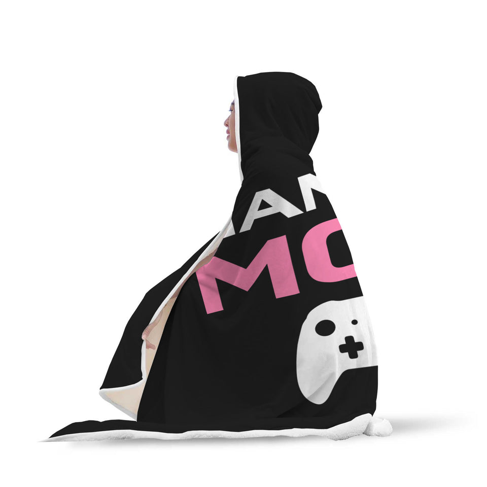 Gaming Mom - Video Game Mom Hooded Blanket