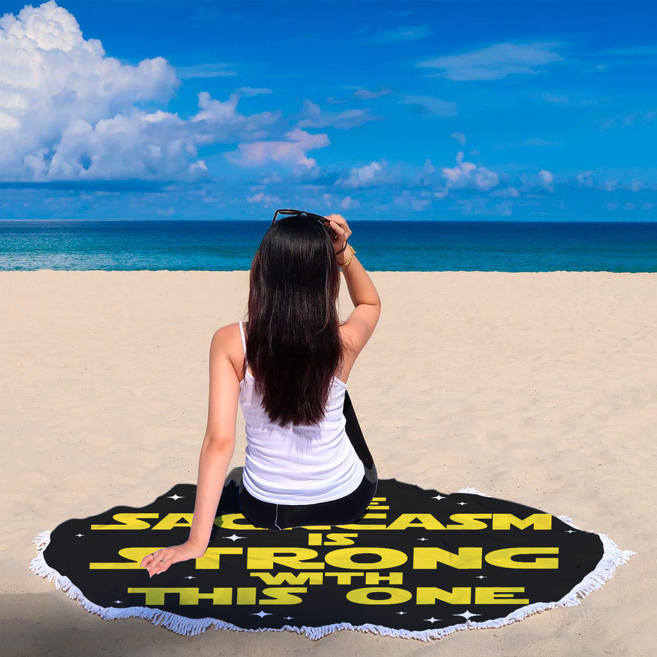 The Sarcasm Is Strong With This One Beach Blanket