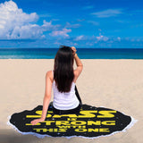 The Sass Is Strong With This One - Sassy Beach Blanket The Sass Is Strong With This One - Sassy Beach Blanket