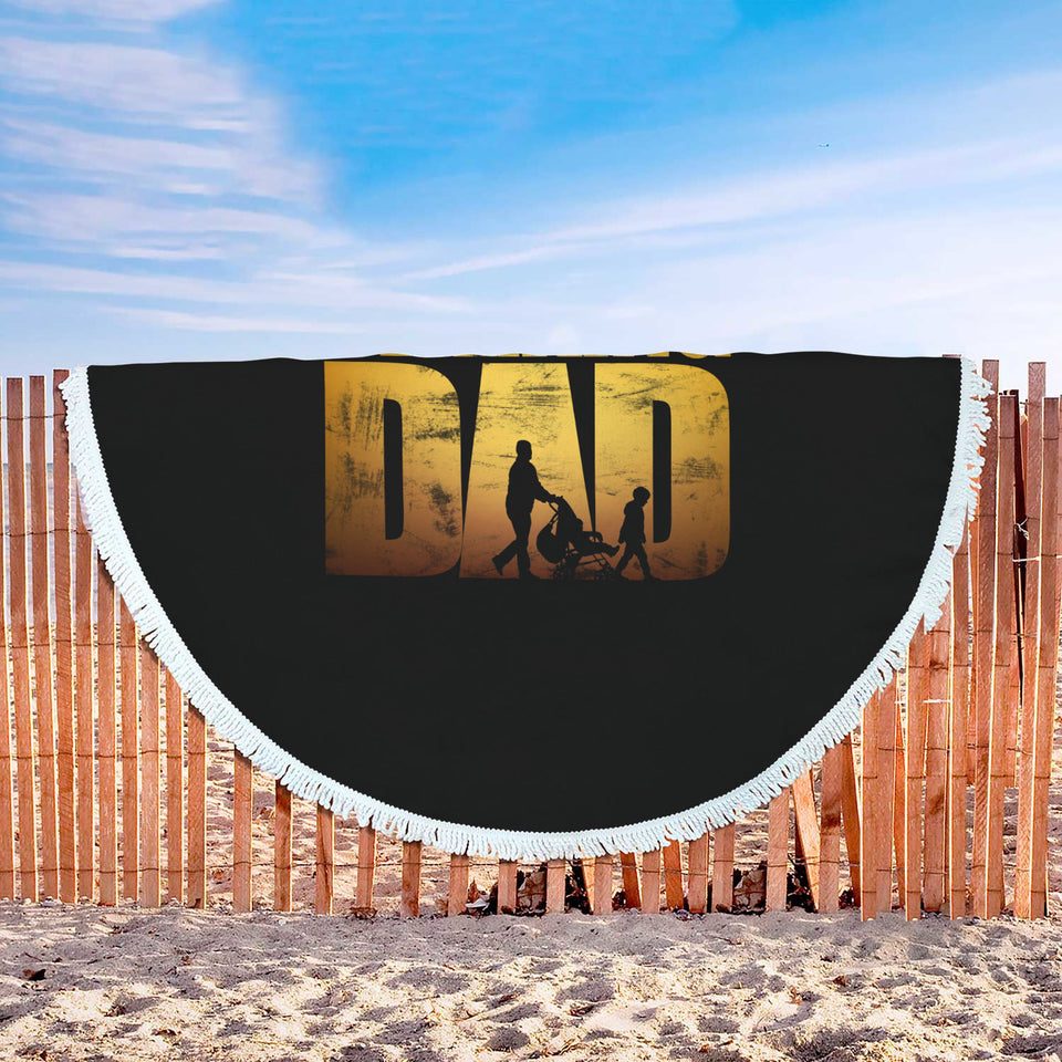 The Walking Dad - Dad Beach Blanket