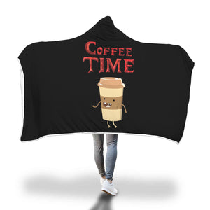 Coffee Time - Coffee Lovers Hooded Blanket