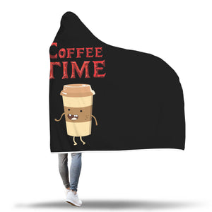 Coffee Time - Coffee Lovers Hooded Blanket Coffee Time - Coffee Lovers Hooded Blanket