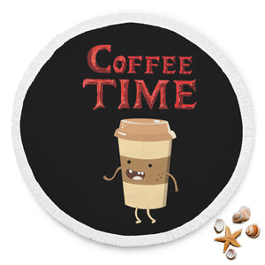 Coffee Time - Coffee Lovers Beach Blanket Coffee Time - Coffee Lovers Beach Blanket