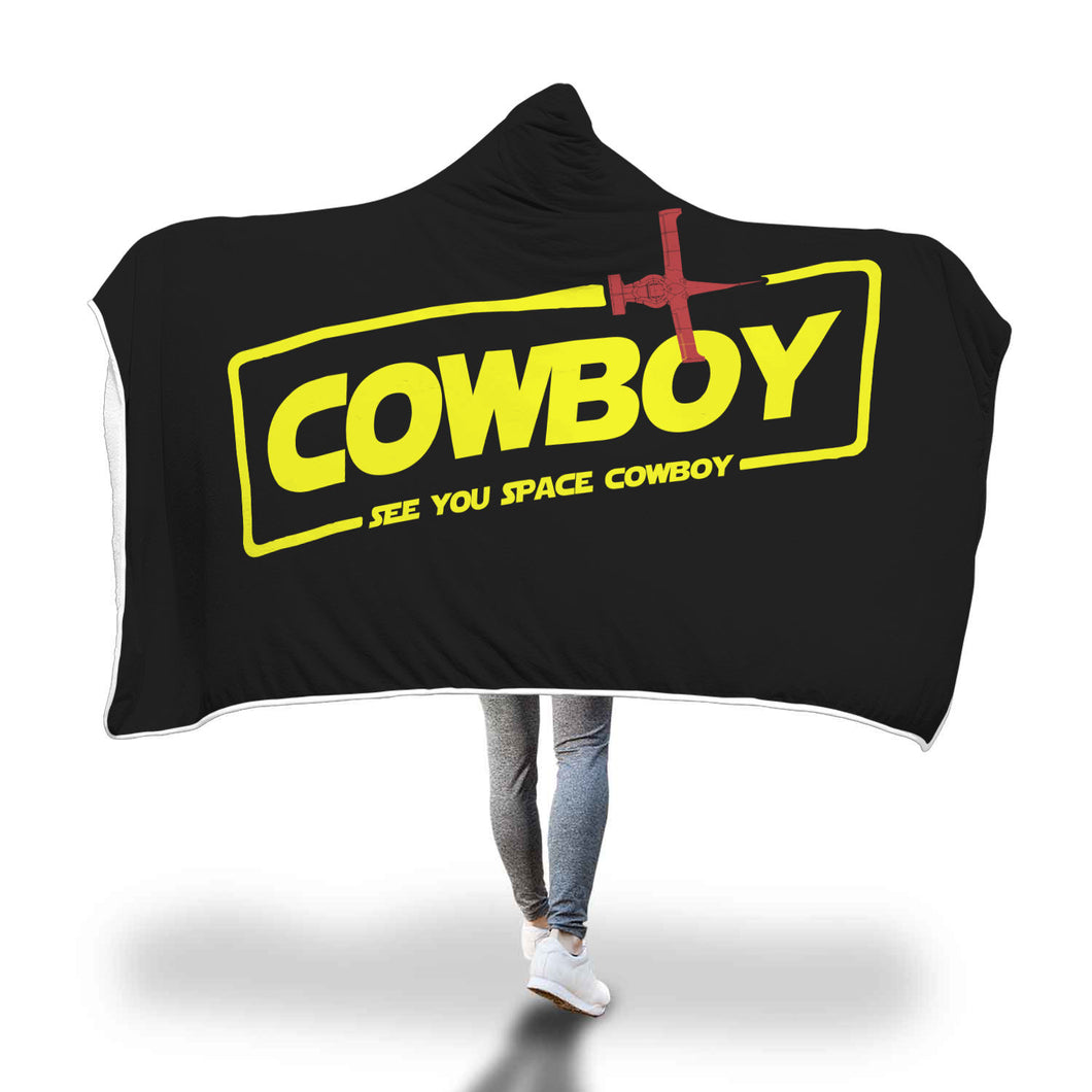 Cowboy A Space Cowboy Story Hooded Blanket