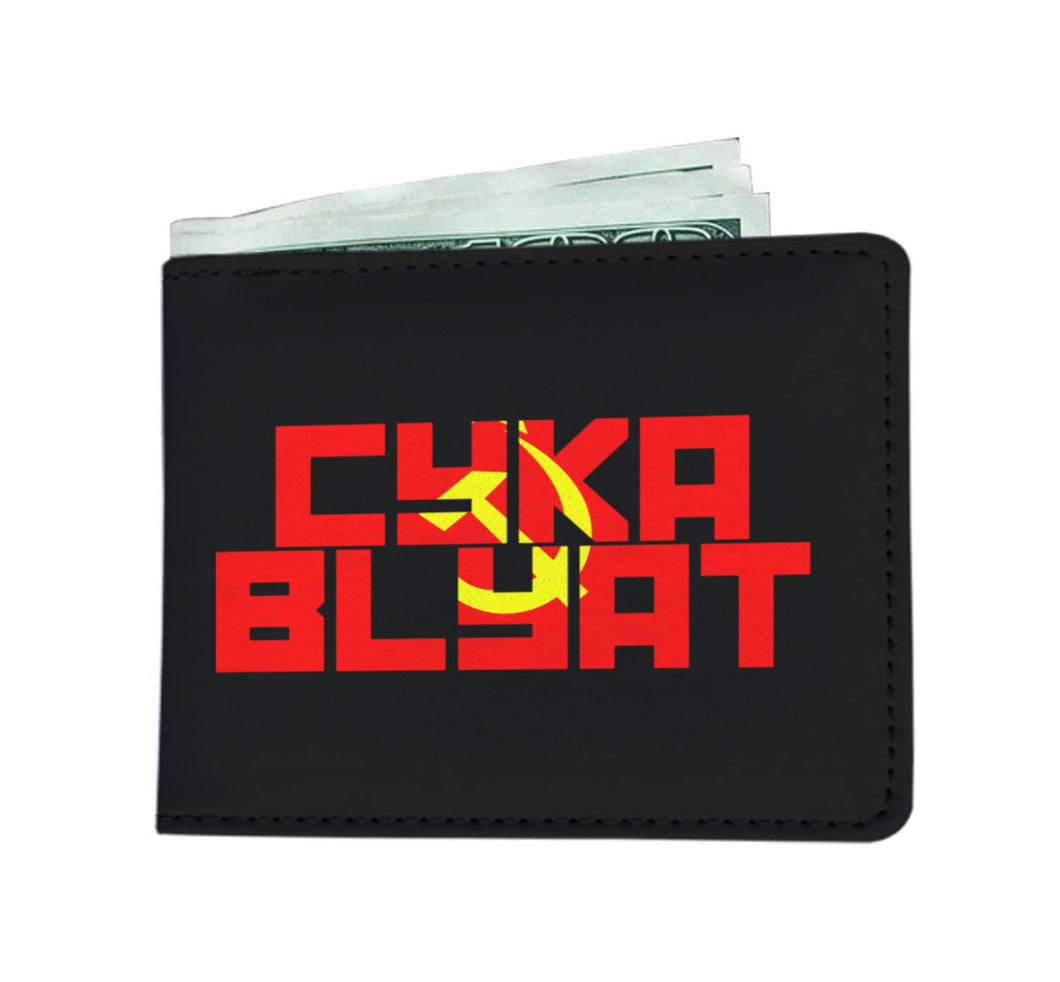 CYKA BLYAT Video Gaming Mens Wallet