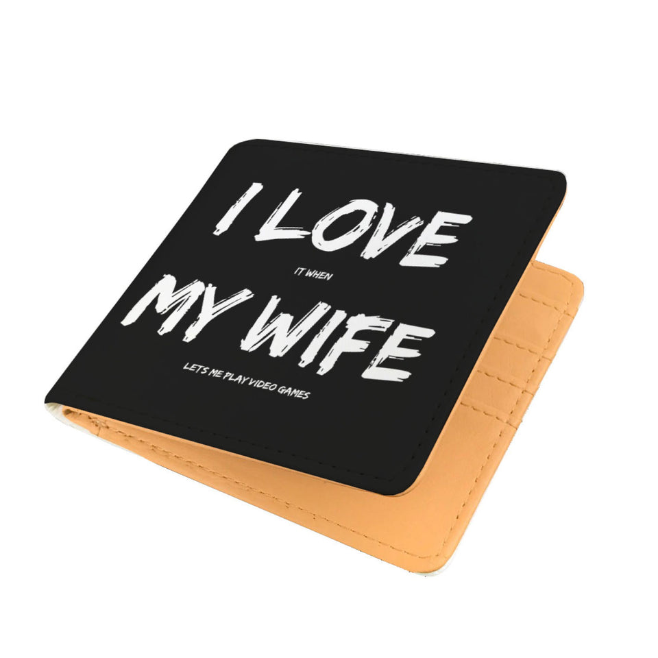 I Love It When My Wife Lets Me Play Video Games - Video Gaming Mens Wallet