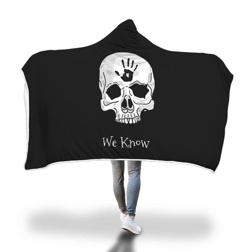 Dark Brotherhood We Know Hooded Blanket