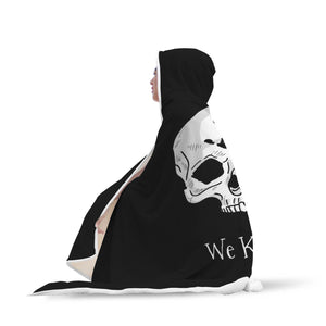 Dark Brotherhood We Know Hooded Blanket Dark Brotherhood We Know Hooded Blanket