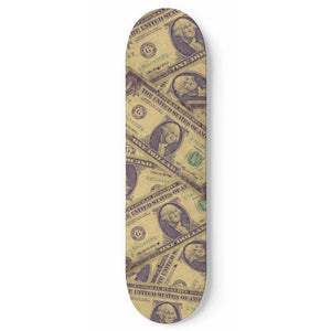 All About The Benjamins Money Skateboard Deck All About The Benjamins Money Skateboard Deck