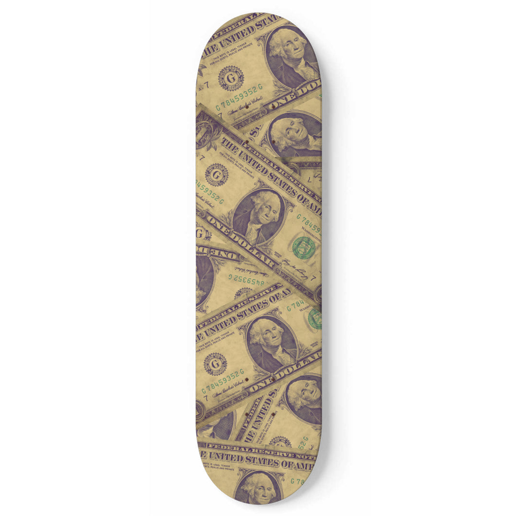 All About The Benjamins Money Skateboard Deck