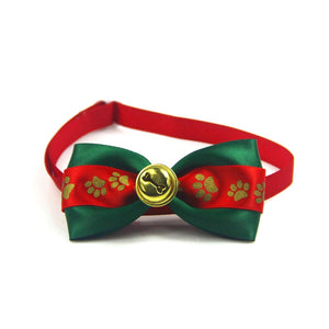 Christmas Pet Bow Collar Christmas Dog Bow Tie, Christmas Cat Bow Tie, Christmas Pet Bow Tie