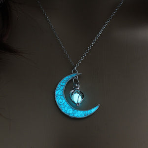 Moon Glowing Glow In The Dark Necklace Moon Glowing Glow In The Dark Necklace
