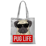 Pug Life - Pug Lover Classic Sublimation Tote Bag Pug Life - Pug Lover Classic Sublimation Tote Bag