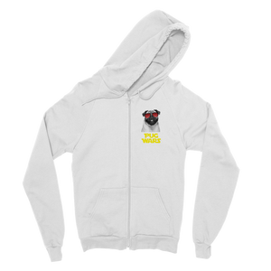Pug Wars Return Of The Pug Classic Adult Zip Hoodie Pug Wars Return Of The Pug Classic Adult Zip Hoodie