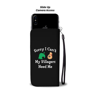 Sorry I Can't My Villagers Need Me Wallet Phone Case Image 2