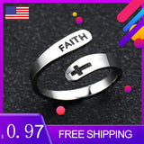 Stainless Steel Adjustable Faith Ring Stainless Steel Adjustable Faith Ring