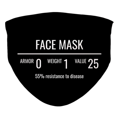 Skyrim face mask, elder scrolls face mask