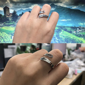 Stainless Steel Adjustable Faith Ring faith ring