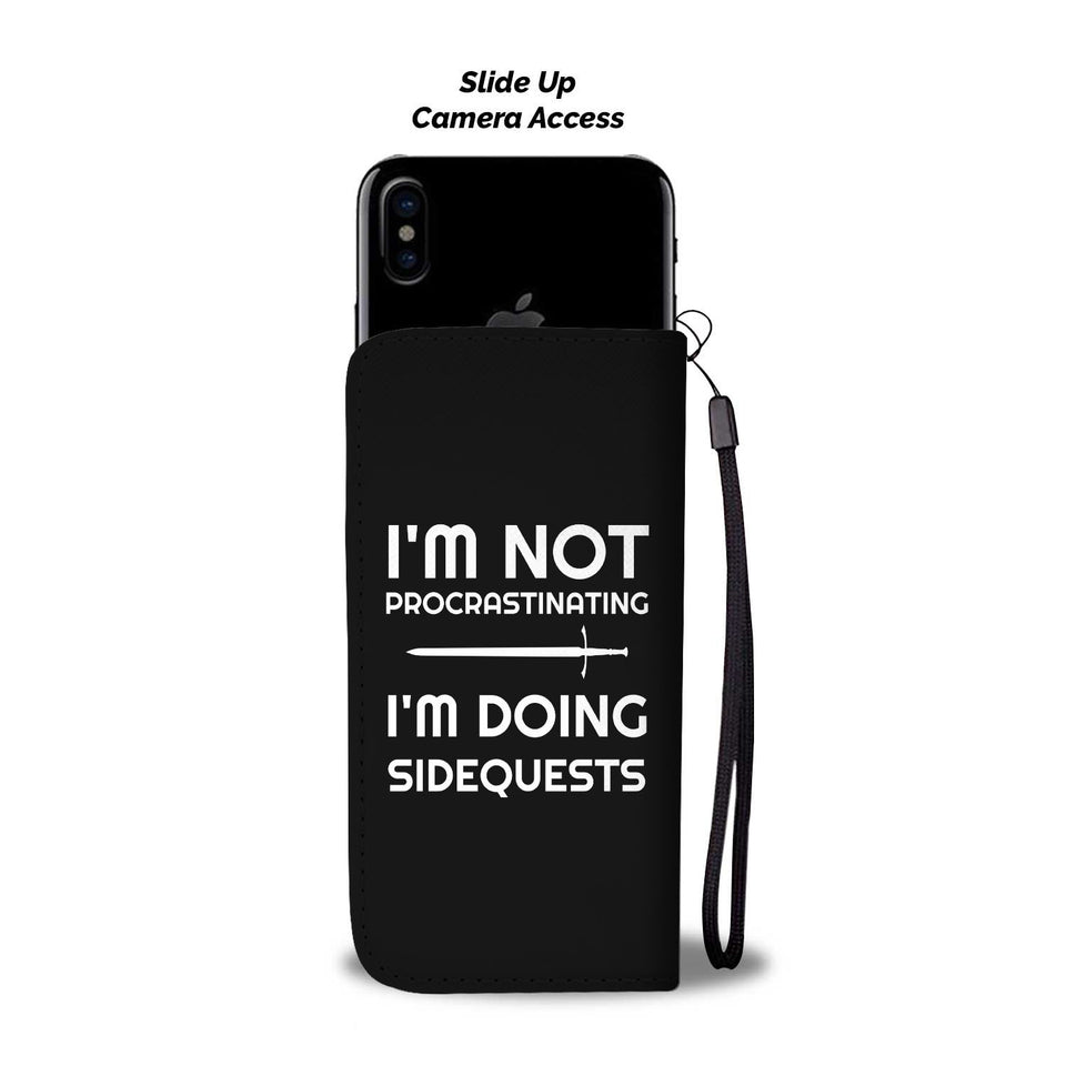 I'm Not Procrastinating I'm Doing Side Quests Fantasy RPG Video Gamer Phone Wallet Case