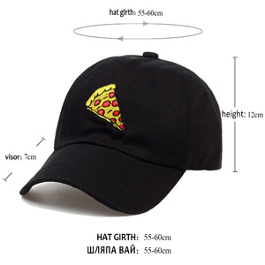 Pizza Embroidered Baseball Cap Pizza Embroidered Baseball Cap