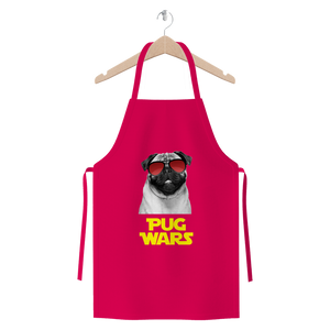 Pug Wars Return Of The Pug Premium Jersey Apron Pug Wars Return Of The Pug Premium Jersey Apron