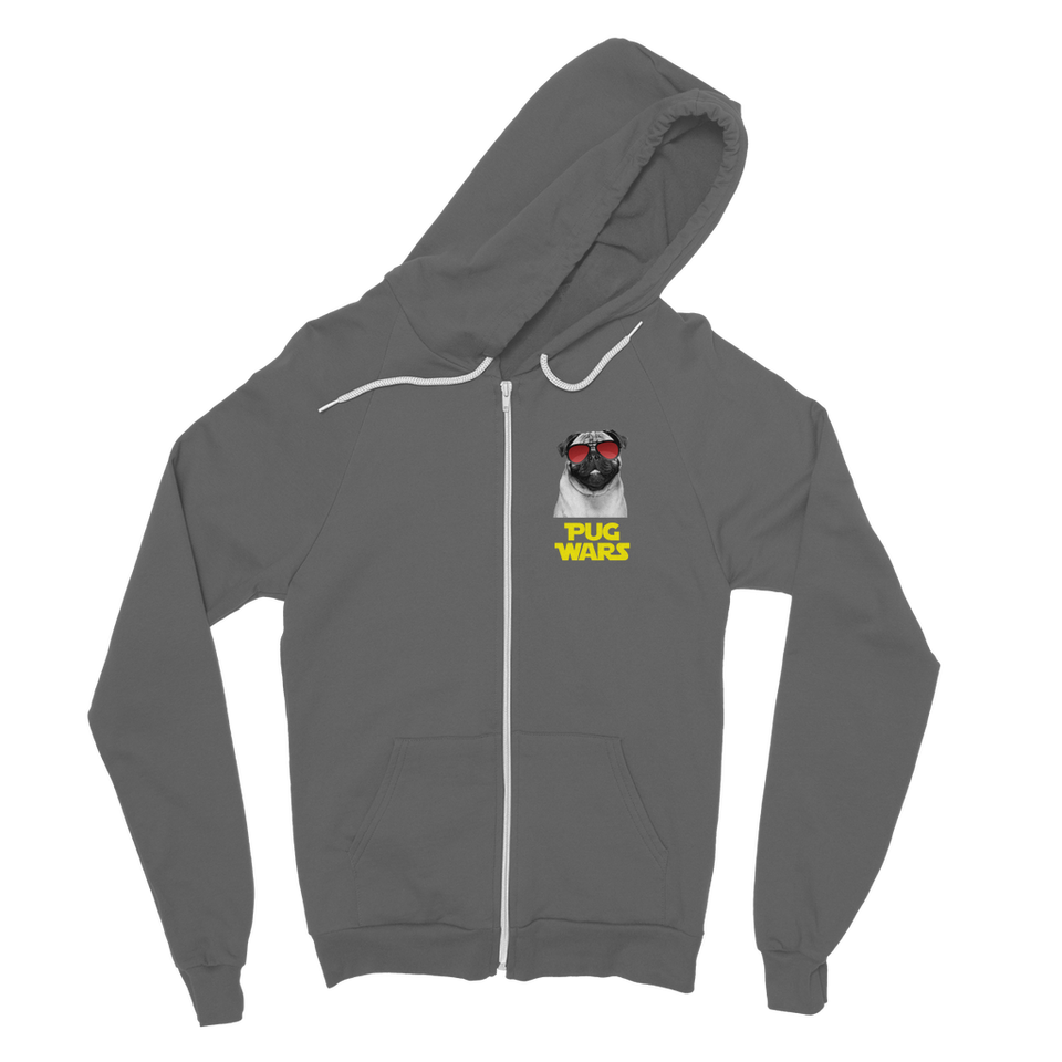 Pug Wars Return Of The Pug Classic Adult Zip Hoodie