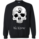 Dark Brotherhood We Know Crewneck Pullover Sweatshirt  8 oz. Elder Scrolls Skyrim Dark Brotherhood We Know