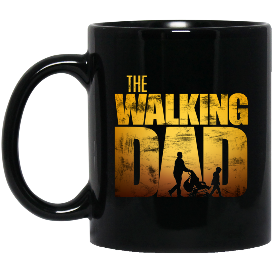 The Walking Dad - Dad 11 oz. Black Mug