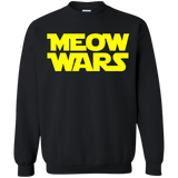 Meow Wars Cat Lover Pullover Sweatshirt  8 oz. Meow Wars Cat Lover